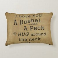 I love you a bushel and a peck pillow accent pillow | Zazzle
