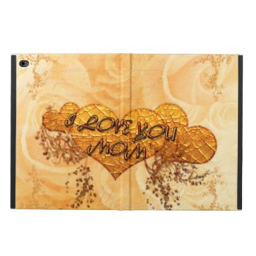 I love you mom with hearts and roses powis iPad air 2 case