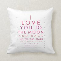 I Love You to the Moon and Back Throw Pillows | Zazzle