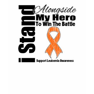 I Stand Alongside My Hero Leukemia shirt