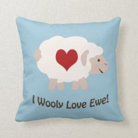 I Wooly Love You! Pillow | Zazzle