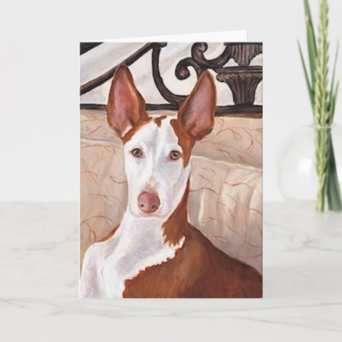 Ibizan Hound Dog Art Greeting Card