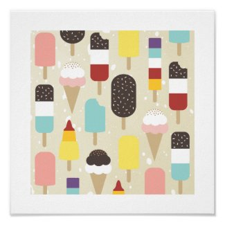 Ice Cream & Frozen Treats Print