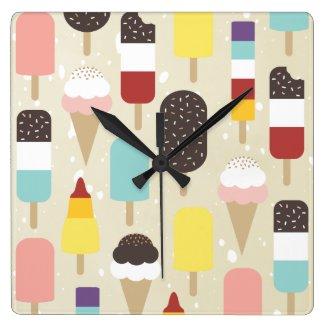 Ice Cream & Frozen Treats Wall Clock