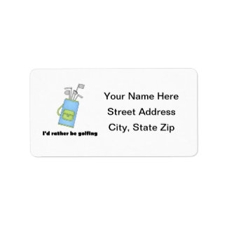 Golf Address Labels & Golf Mailing/Shipping Label Templates