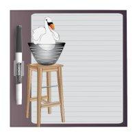 Ikea Interiors Swan Dry Erase Board | Zazzle