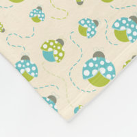 Illustrated Ladybugs Fleece Blanket