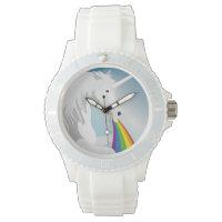 Illustration puking Unicorns Wrist Watch