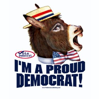 I'm A Proud Democrat Shirt zazzle_shirt