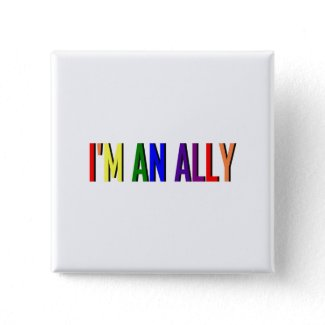 I'm an Ally Square Button button