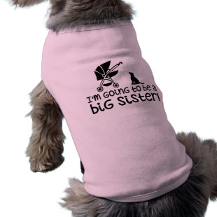 I'm going to be a big sister! pet tee shirt