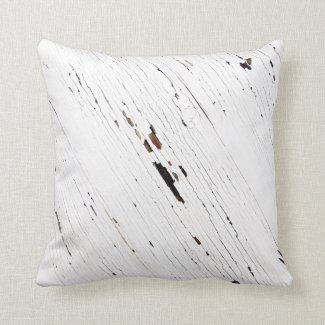 Image of Planks of Wood with Chipped Paint. Throw Pillows