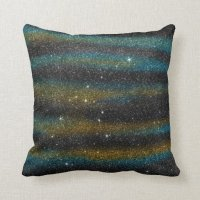 Image of yellow and turquoise Glitter Throw Pillow | Zazzle