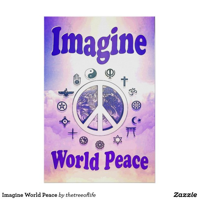 Imagine World Peace Poster
