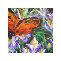 Impressionist butterfly canvas wall art | Zazzle