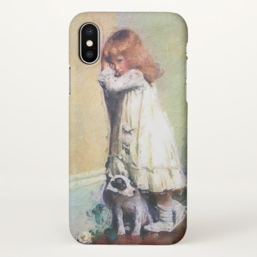 In Disgrace Vintage Oil Painting iPhone X Case