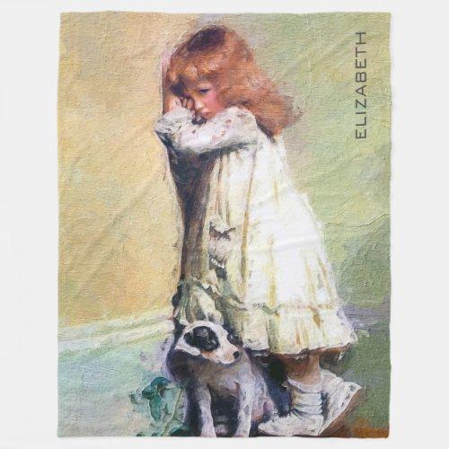 In Disgrace Vintage Oil Painting Masterpiece Fleece Blanket