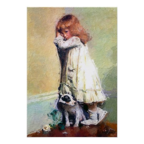 In Disgrace Vintage Oil Painting Masterpiece Poster