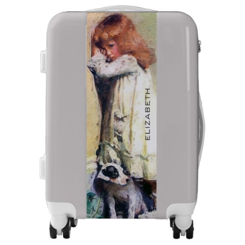 In Disgrace Vintage Oil Painting Personalized Luggage