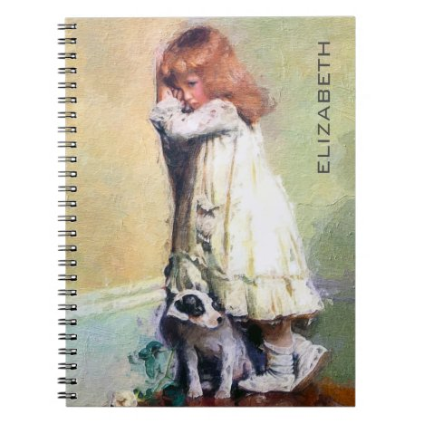 In Disgrace Vintage Oil Painting Personalized Notebook