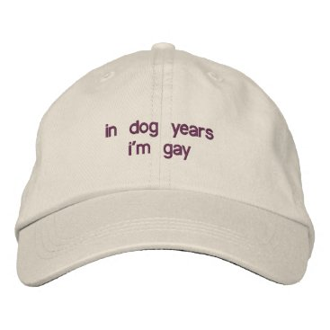 in dog years i'm gay embroidered baseball hat