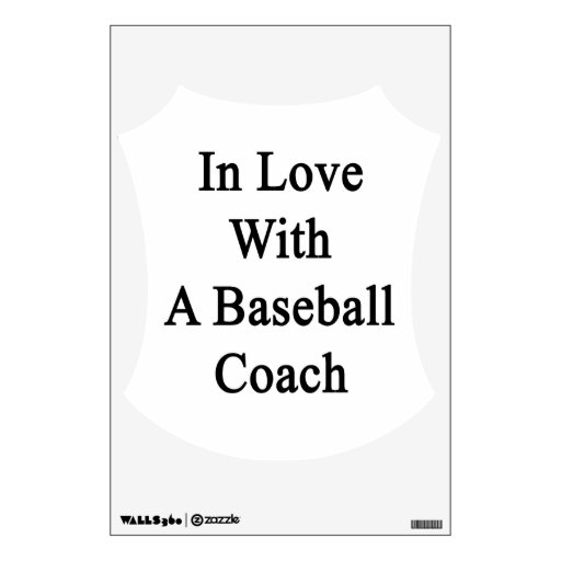 In Love With A Baseball Coach Room Stickers