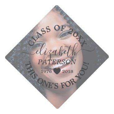 In Loving Memory | Photo Tribute Graduation Cap Topper