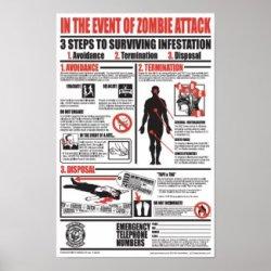 Zombie Emergency Poster