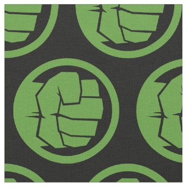 Incredible Hulk Logo Fabric