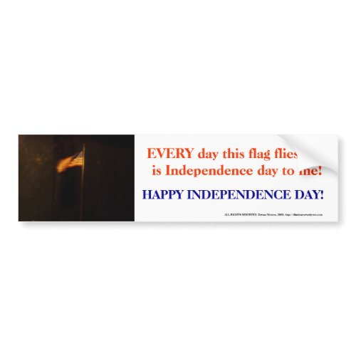 Independence Day Flag bumpersticker