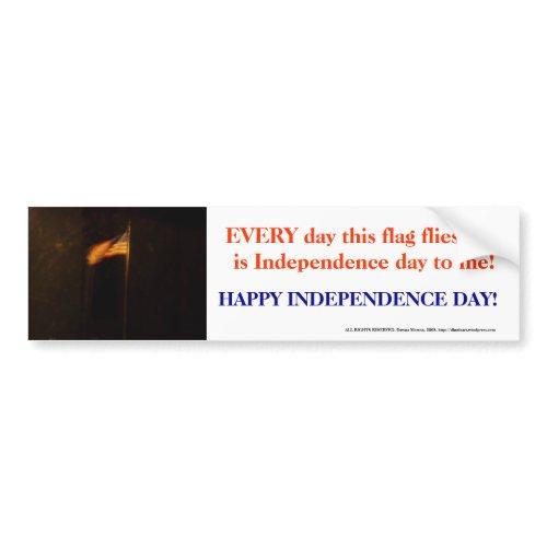 Independence Day Flag bumpersticker