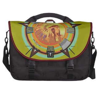 Indian Head Test Pattern Laptop Commuter Bag