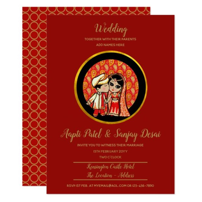 Indian Wedding Invitations Cute Bride