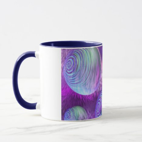 Inner Flow II - Abstract Indigo & Lavender Galaxy Mug