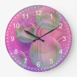 Inner Flow III – Fuchsia & Violet Abstract Clock