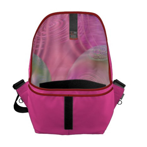 Inner Flow III – Fuchsia & Violet Galaxy Courier Bag