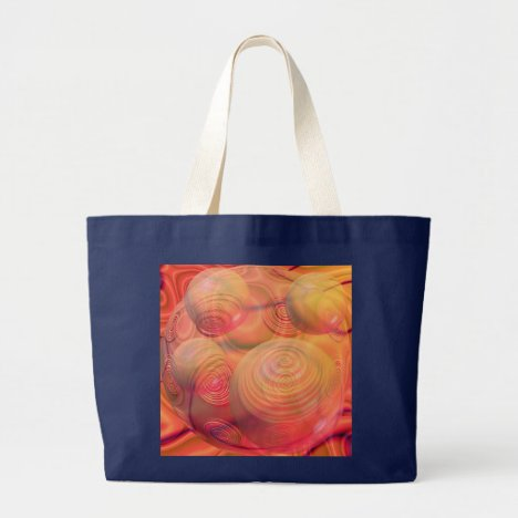 Inner Flow IV Fractal Abstract Orange Amber Galaxy Large Tote Bag