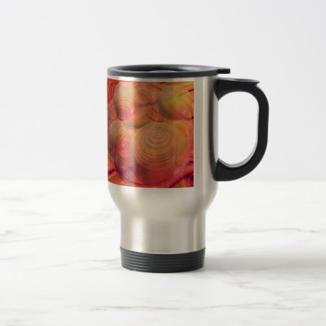 Inner Flow IV Fractal Abstract Orange Amber Galaxy Travel Mug