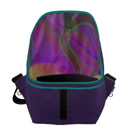 Inner Flow V Abstract Fractal Violet Indigo Galaxy Courier Bag