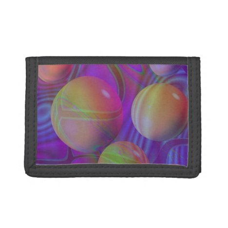 Inner Flow V Abstract Violet Indigo Fractal Galaxy Tri-fold Wallet
