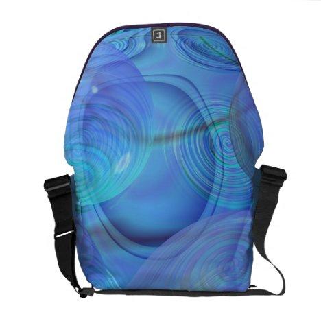 Inner Flow VI – Aqua & Azure Galaxy Courier Bag
