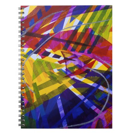 Inner Space – Abstract Rainbow Streams Notebook