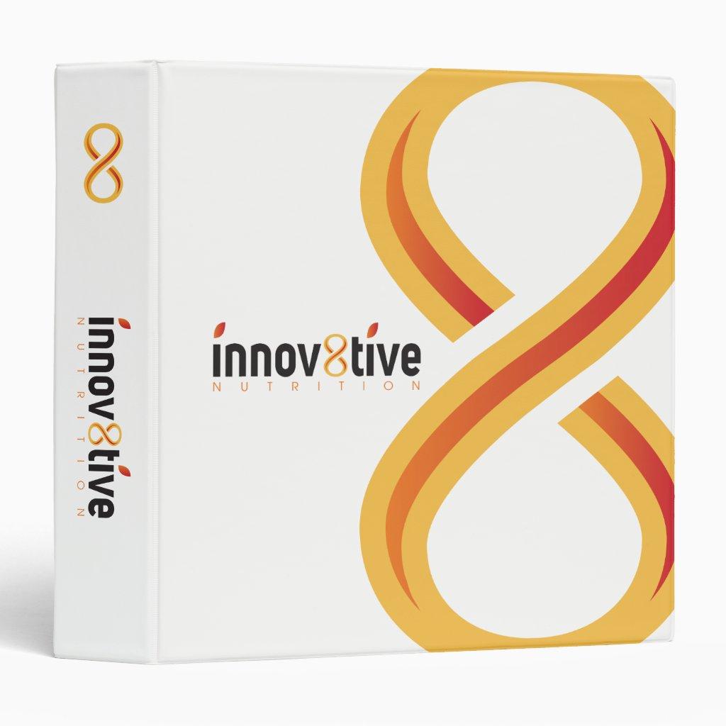 Innov8tive Nutrition White 3 Ring Binder