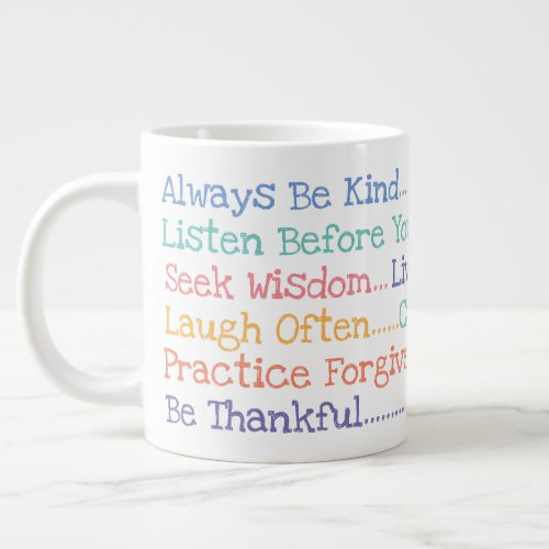 Inspiration Words To Live Jumbo Mug