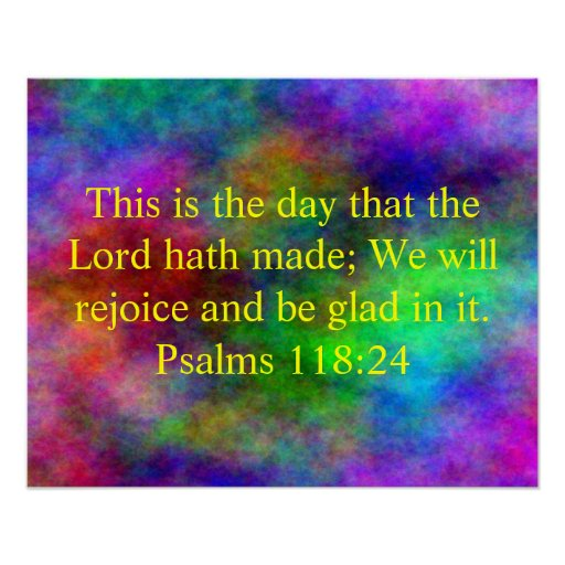 Inspirational bible verse poster Zazzle