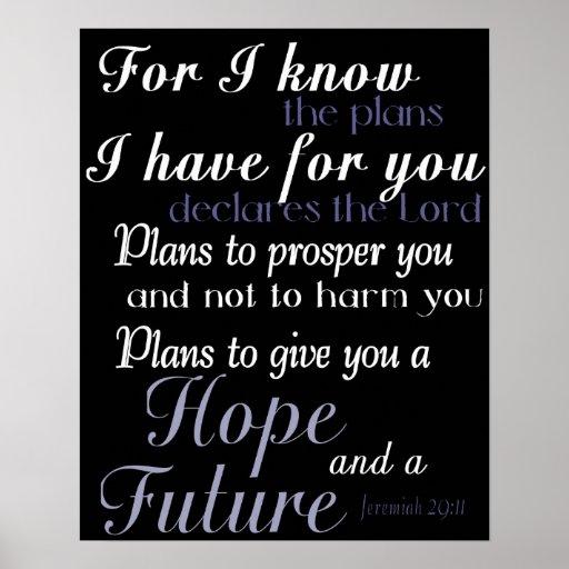 Inspirational Bible Verse Poster Print Wall Decor Zazzle