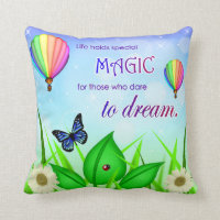Inspirational Dream Quote Throw Pillow