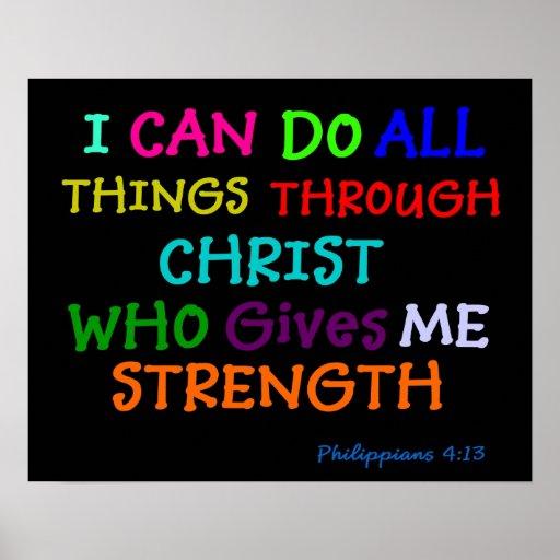Inspirational Poster Philippians Bible Scripture Zazzle