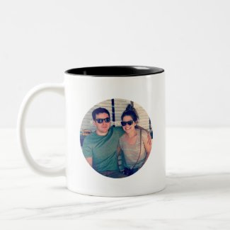 Instagram Photo Template Circle Mug