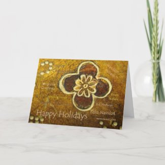 International Happy Holiday - Customizable Card